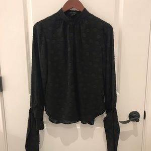 Ann Taylor Tops - Ann Taylor blouse with tie sleeves